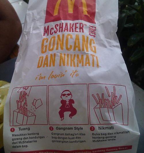 McDonald Oppa Gangnam Style McShaker Fries