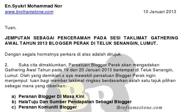 jemputan penceramah blogger perak
