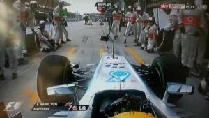 Lewis Hamilton wrong pit stop