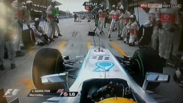 Lewis Hamilton wrong pit stop