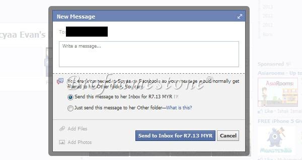 Mesej Facebook Berbayar