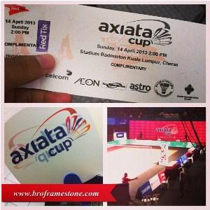 tiket Axiata Cup 2013