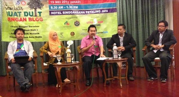 Panel Seminar Buat Duit dengan Blog
