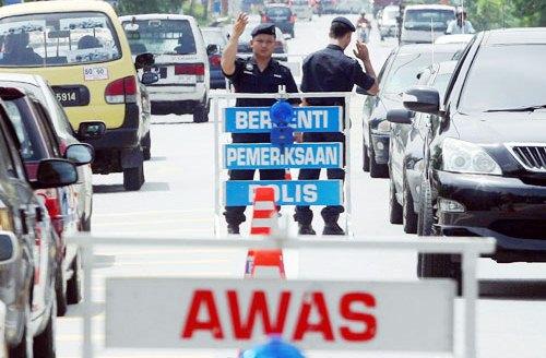 Road Block Polis Malaysia