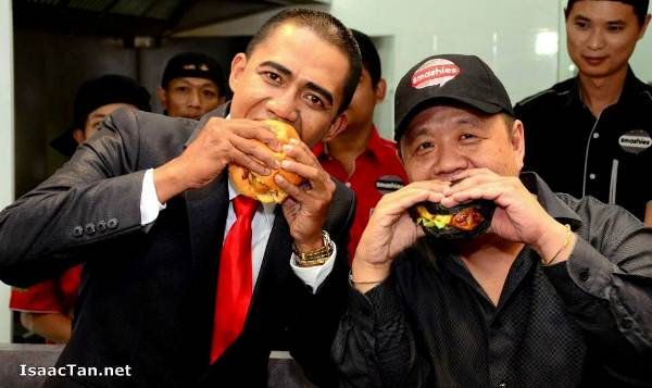 Barrack Obama Makan Burger