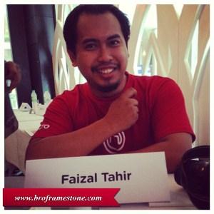 Faizal tahir in the house