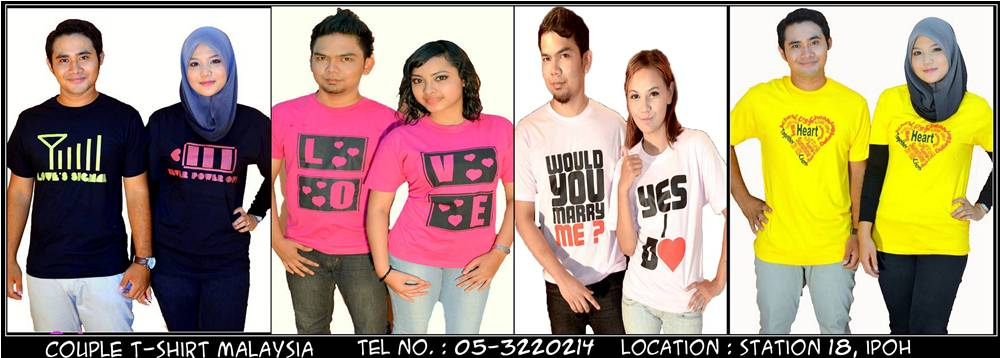 Banner T-Shirt Couple Malaysia