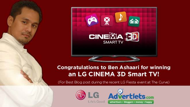 Ben Ashaari Menang LG CINEMA 3D Smart TV