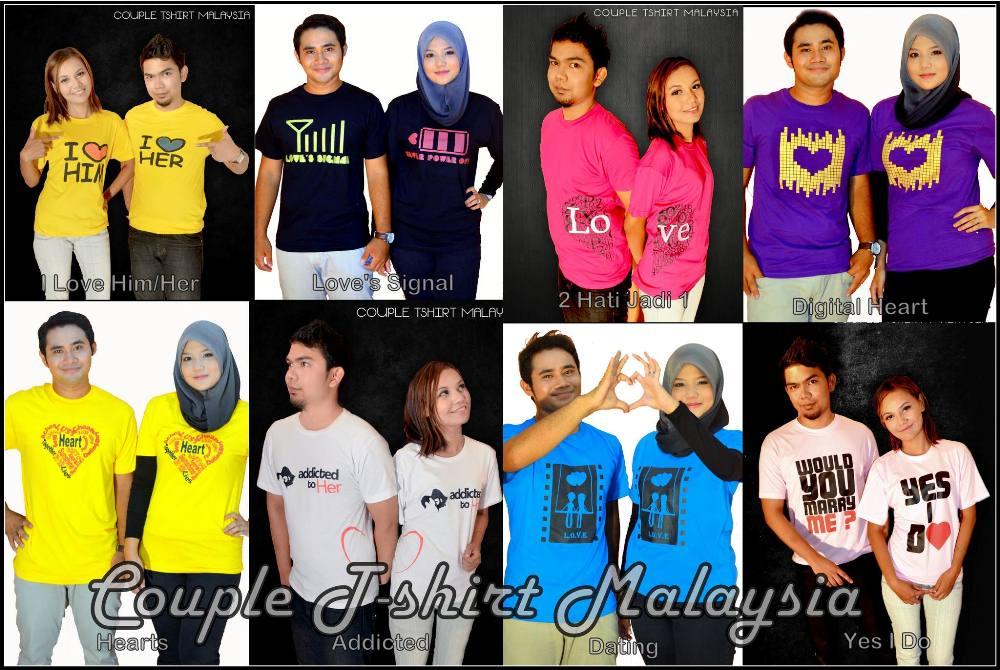 Koleksi T-Shirt Couple Malaysia