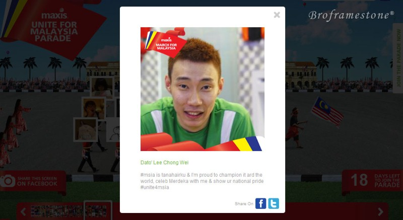 Lee Chong Wei Maxis Unite for Malaysia Parade