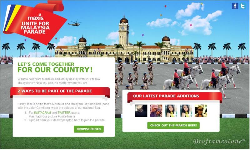 Maxis Unite For Malaysia Parade