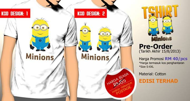 Tshirt Minions Putih