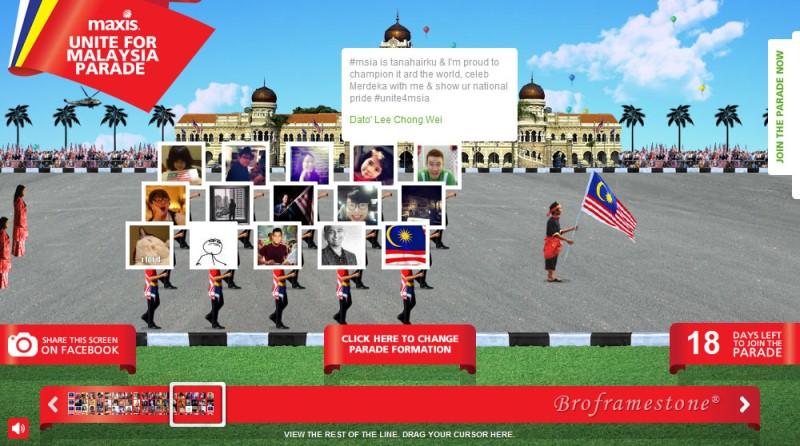 Unite for malaysia parade