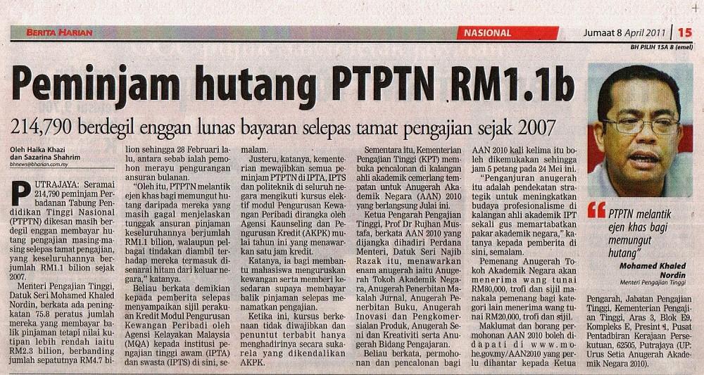 selesaikan hutang ptptn