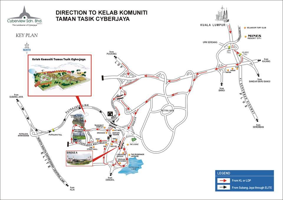 peta lokasi paintball cyberjaya park