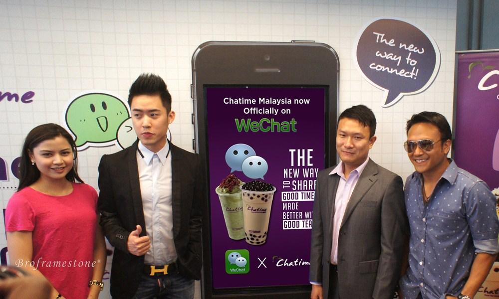 Chatime Malaysia MD Bryan Loo with Shaheizy Sam & Lisa Surihani