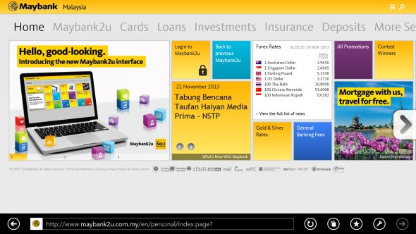Maybank New Interface UI
