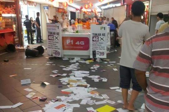 Kiosk P1 di Selayang Mall di Serang Pelanggan yang Marah
