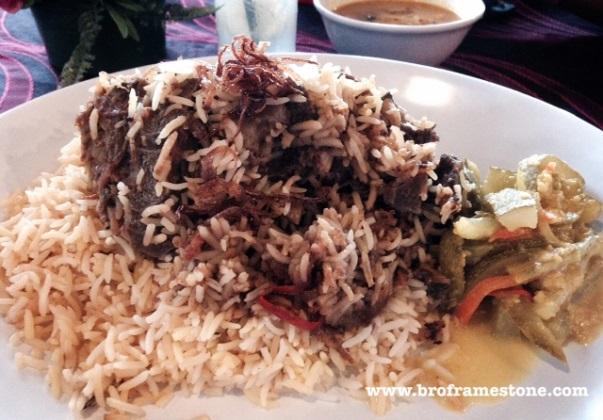 Roasted Lamb + Bukharra Rice at Zam Zam Cafe & Satay Club