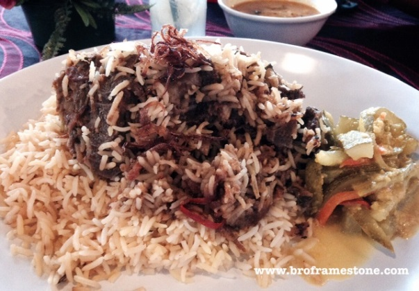 Roasted Lamb + Bukharra Rice at Zam Zam Cafe & Satay Club