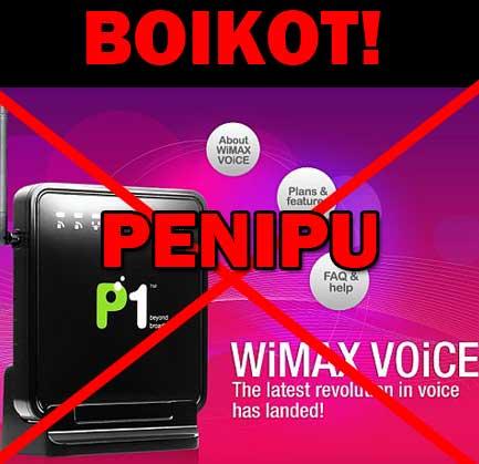 boikot p1wimax