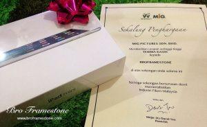 iPad Mini dan Sijil Penghargaan dari MiG