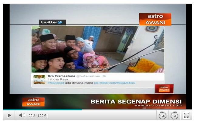 Gambar Selfie Keluarga Mertua Masuk Astro Awani