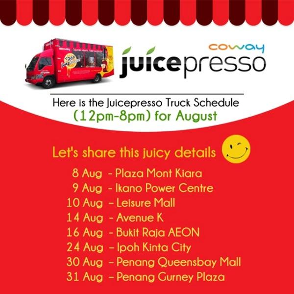 Coway Juicepresso Truck Schedule