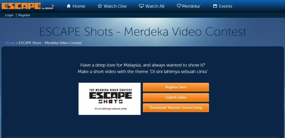ESCAPE Shots Merdeka Video Contest Submit