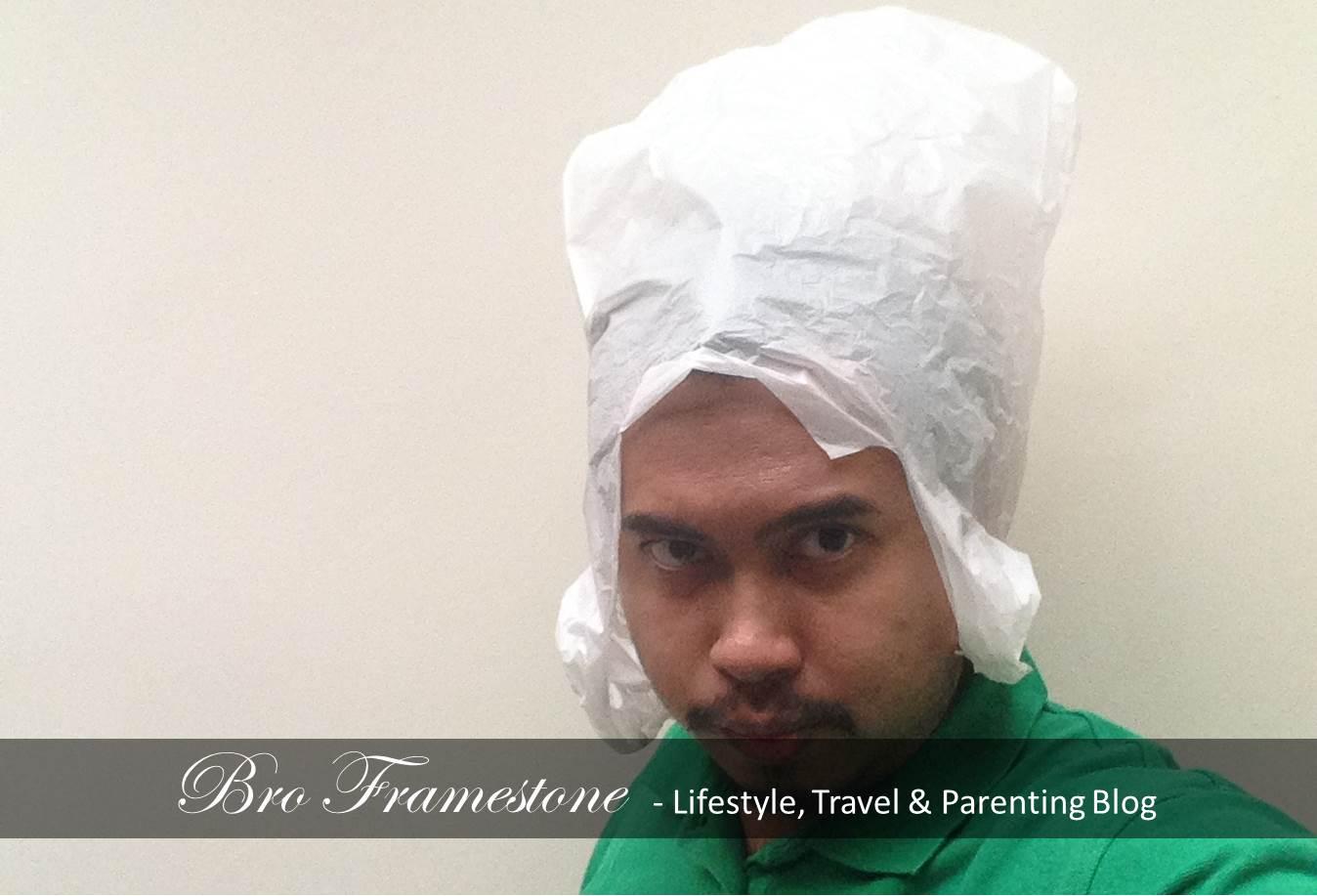 Kegunaan Plastik Beg - Buat kepala Alien
