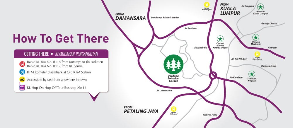 Peta Lokasi ke KL Orchid and Bonsai Show 2015