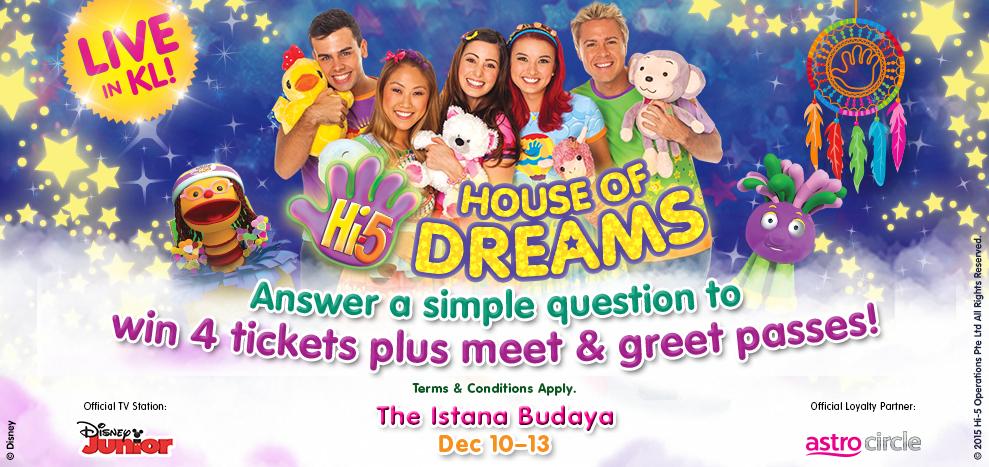 Hi-5 House of Dreams Live in Concert Kuala Lumpur