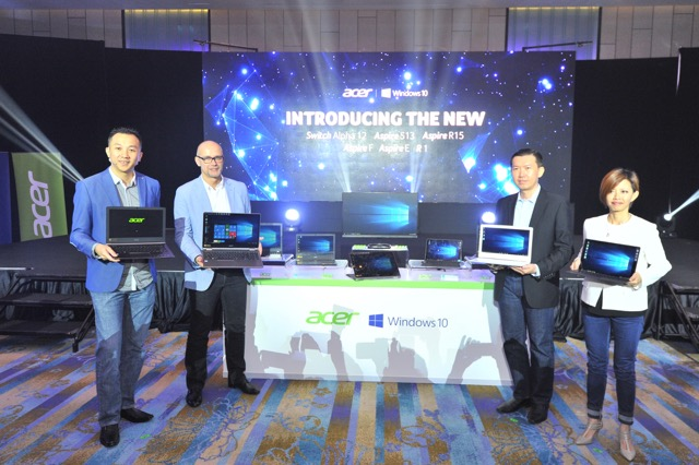 Acer and Microsoft management with the new range of Acer products