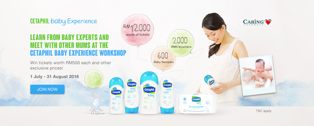 Giveaway Pass Sertai Cetaphil Baby Experience Workshop