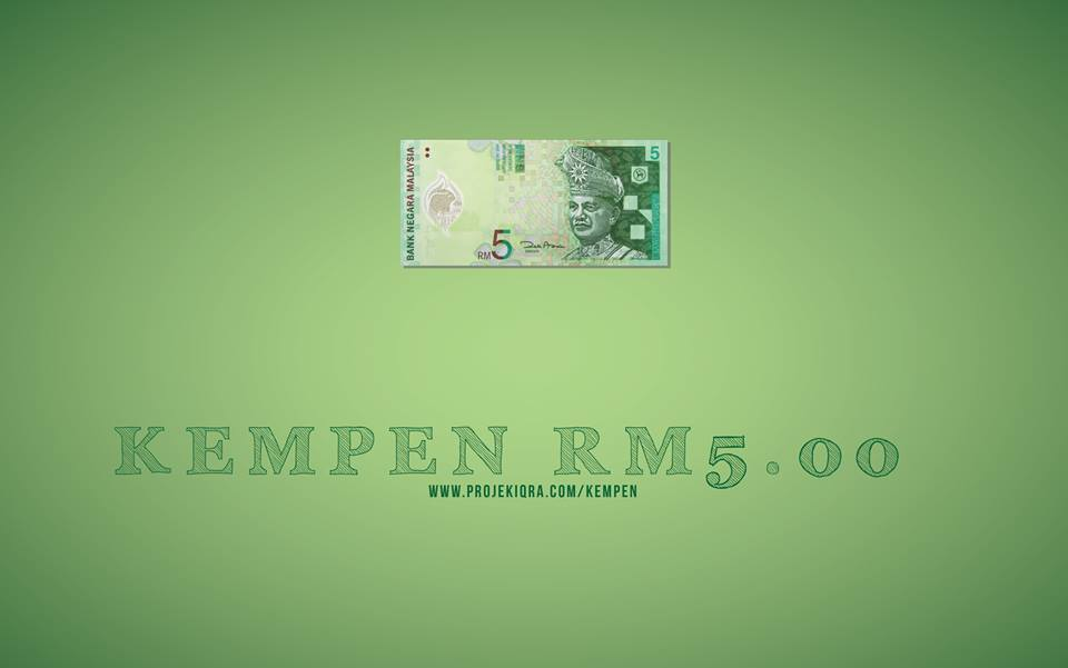 RM5 Sebulan Buat Projek Iqra'