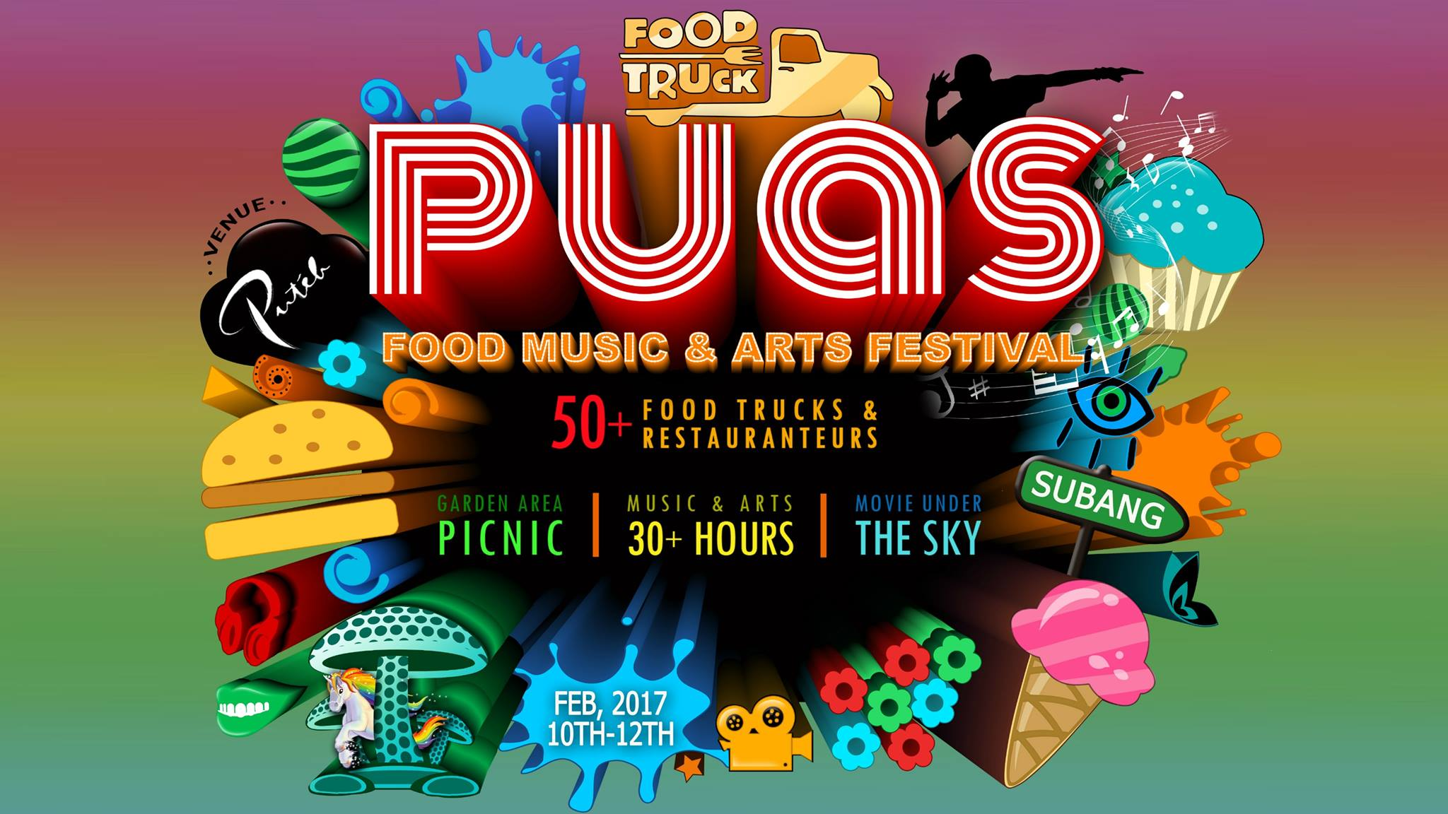 PUAS Fest 2017 – Food Music & Arts Festival 30 Jam di Puteh at Subang