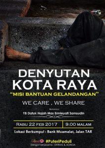 Pergerakan Puteri UMNO Anjurkan Misi Bantuan Gelandangan