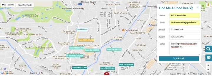 Peta lokasi PropSocial