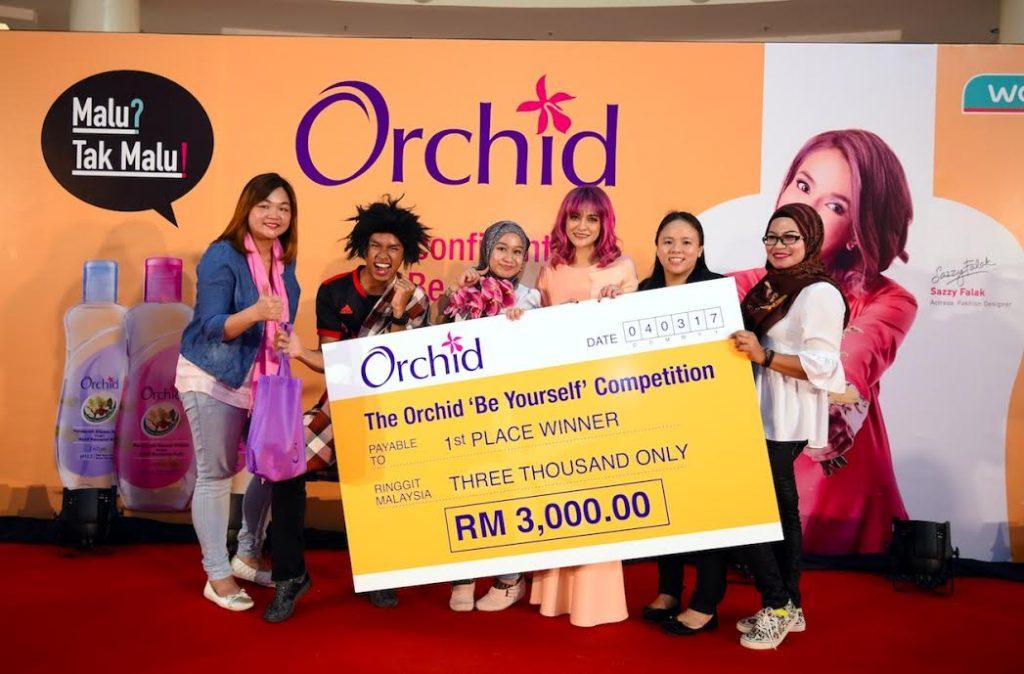 Pemenang Pertandingan Orchid 'Be Yourself' yang Pertama