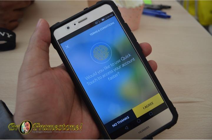Pengesahan Cap jari Aplikasi Maybank