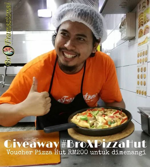 Giveaway Bro Framestone Pizza Hut
