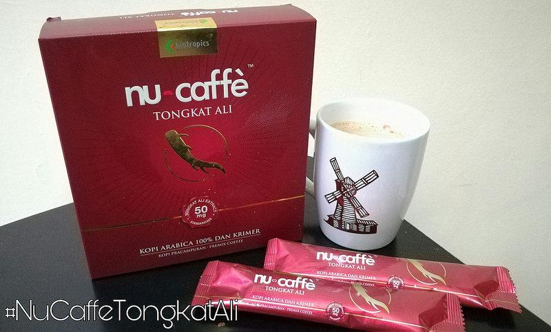 Nu-Caffe 100% biji kopi Arabica Bersama Pati Tongkat Ali