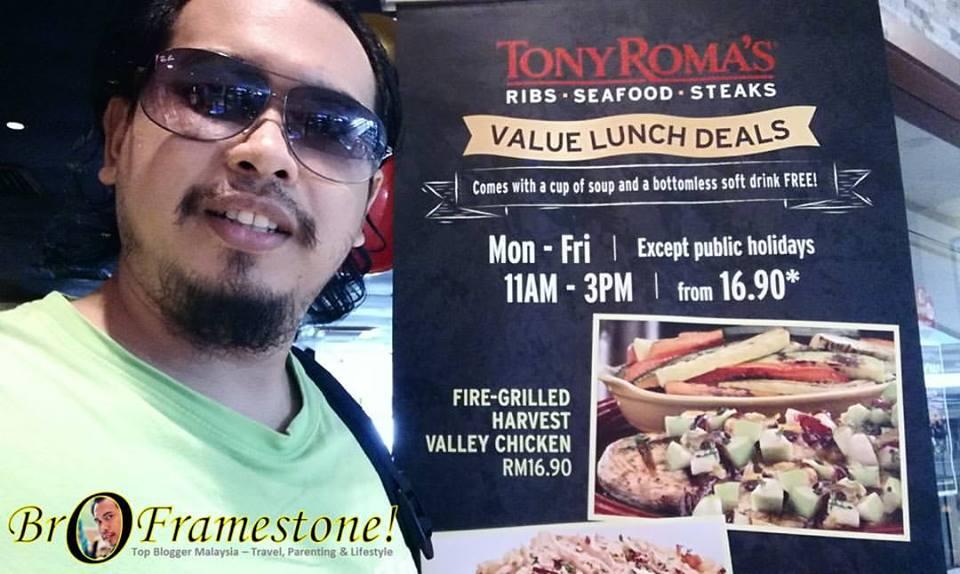 Set Jimat Makan Tengahari di Tony Roma's Serendah RM16.90