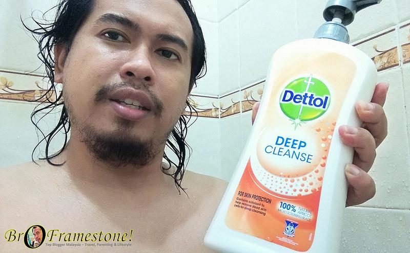 Dettol Deep Cleanse Dengan 100% Skrub Aprikot Semulajadi