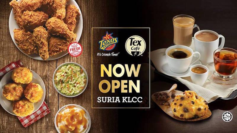 Cawangan Texas Chicken & Tex Café Terbesar Dibuka di Suria KLCC