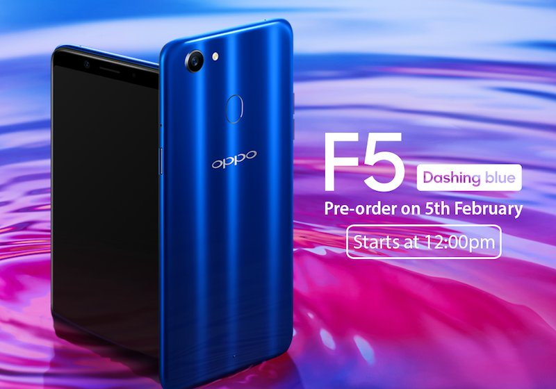OPPO F5 Dashing Blue
