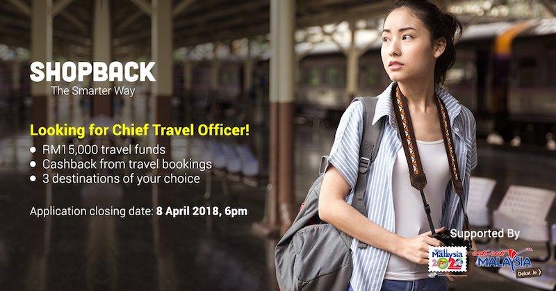Pencarian Chief Travel Officer 2018 ShopBack Dengan 'Gaji Melancong' RM15,000