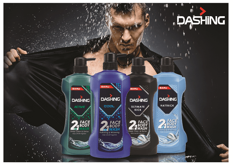Dashing Face and Body Packshot