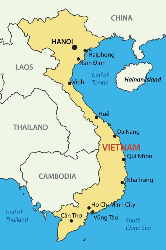 Vietnam Map - Vacation with Vietjet Air