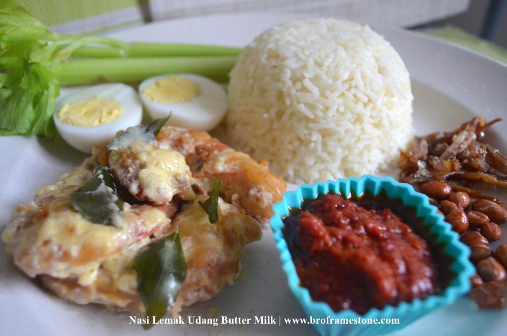 Resepi Nasi Lemak Udang Butter Milk Yang Mudah dan Sedap Dimakan
